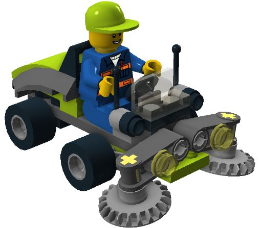 Lego 30224 - Ride-On Lawn Mower i Brick City