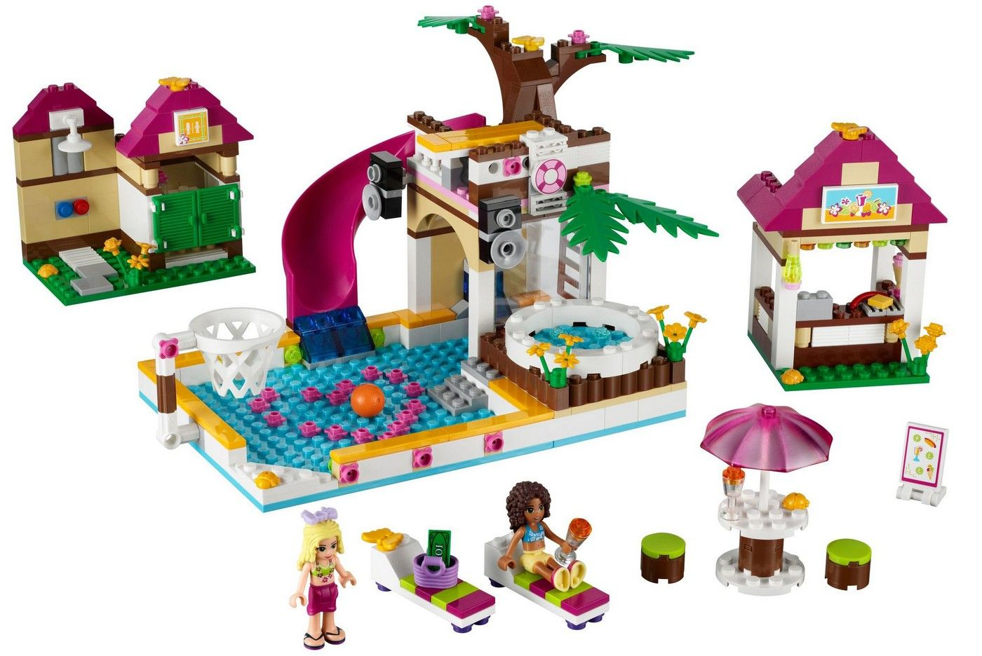 lego friends swimming pool