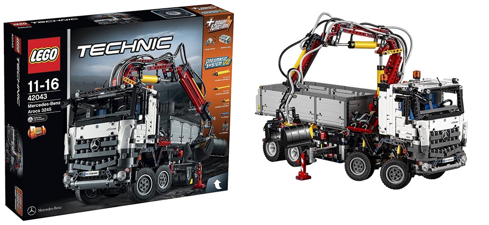 wts lego technic 42043 mercedes benz arocs 3245. Black Bedroom Furniture Sets. Home Design Ideas