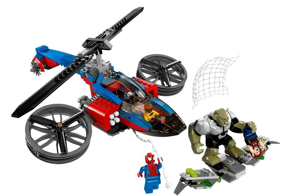 lego 76016 � spiderhelicopter rescue i brick city