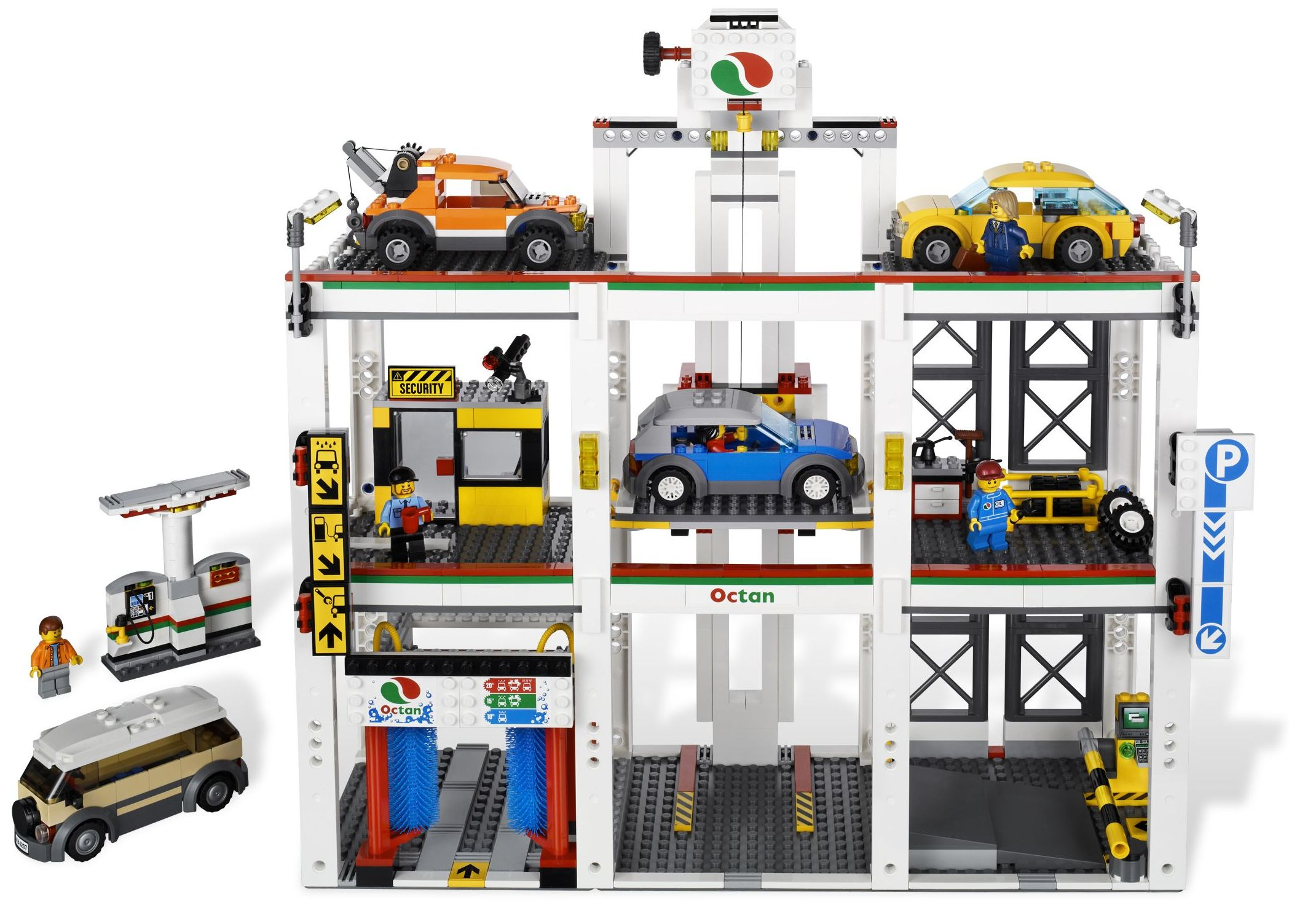 lego city 4207 garage car parking released i brick city. Black Bedroom Furniture Sets. Home Design Ideas