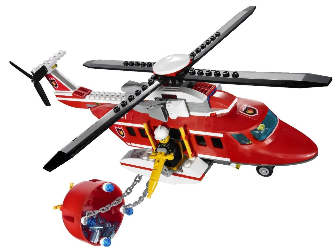 Lego City 7206 Fire Helicopter I Brick City