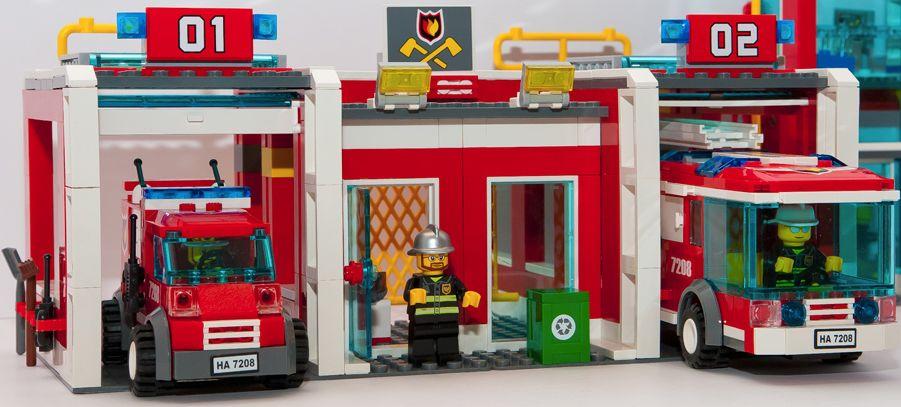 Lego City 7208 Fire Station I Brick City