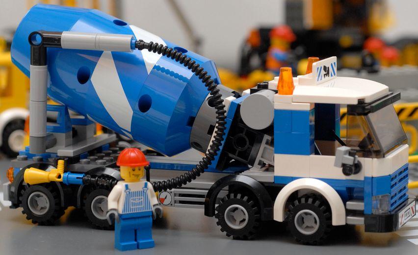 Cement Mixer Plate Legocity 7990 Cement Mixer