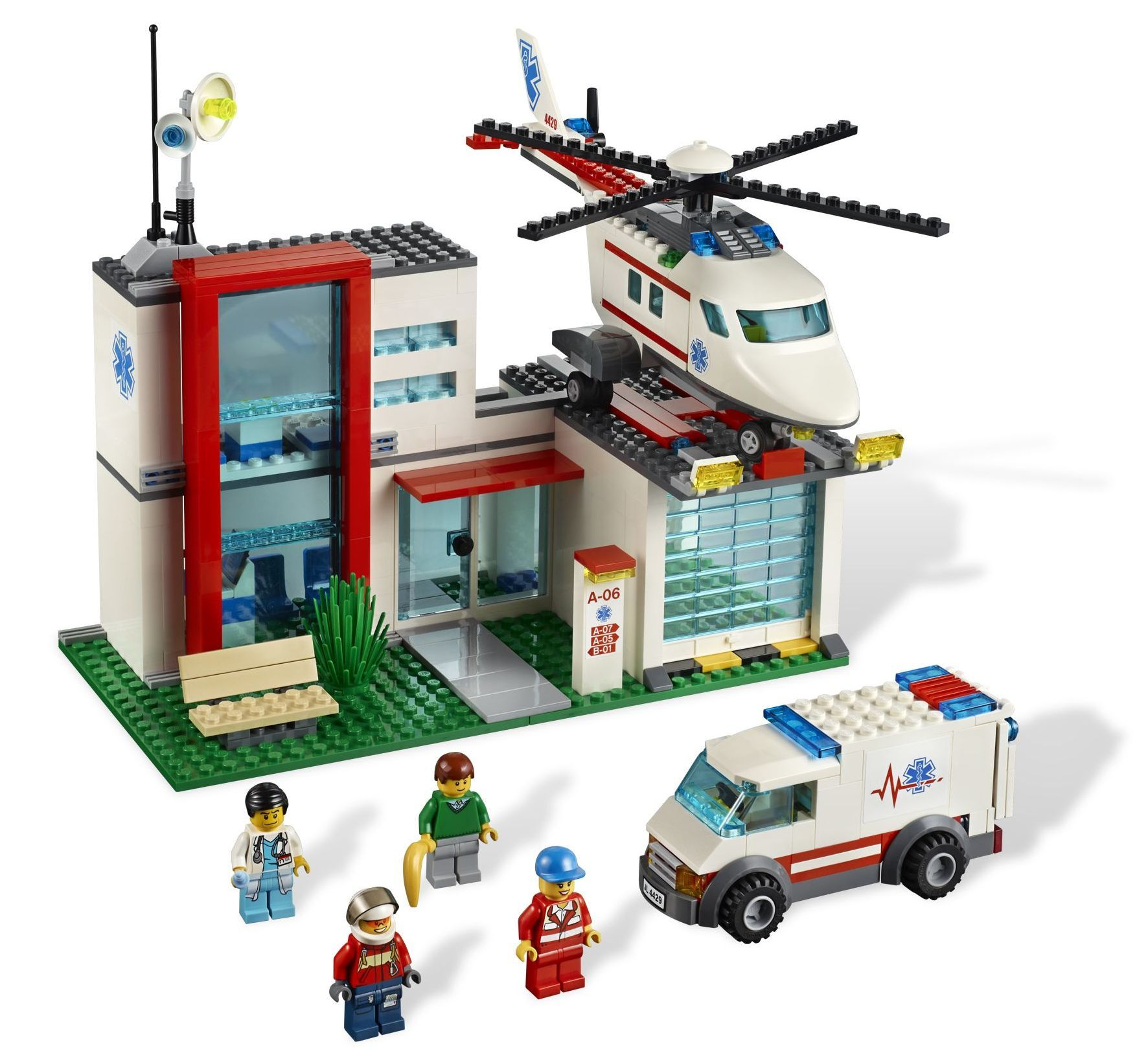 ibrickcity lego 4429 hospital helicopeter rescue summer 2 Lego City 4429 – Hospital / Helicopter Rescue
