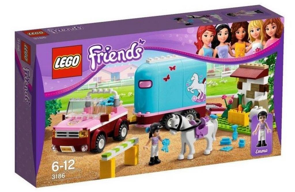 Lego friends 3186 horse trailer i brick city for Playmobil pferde set