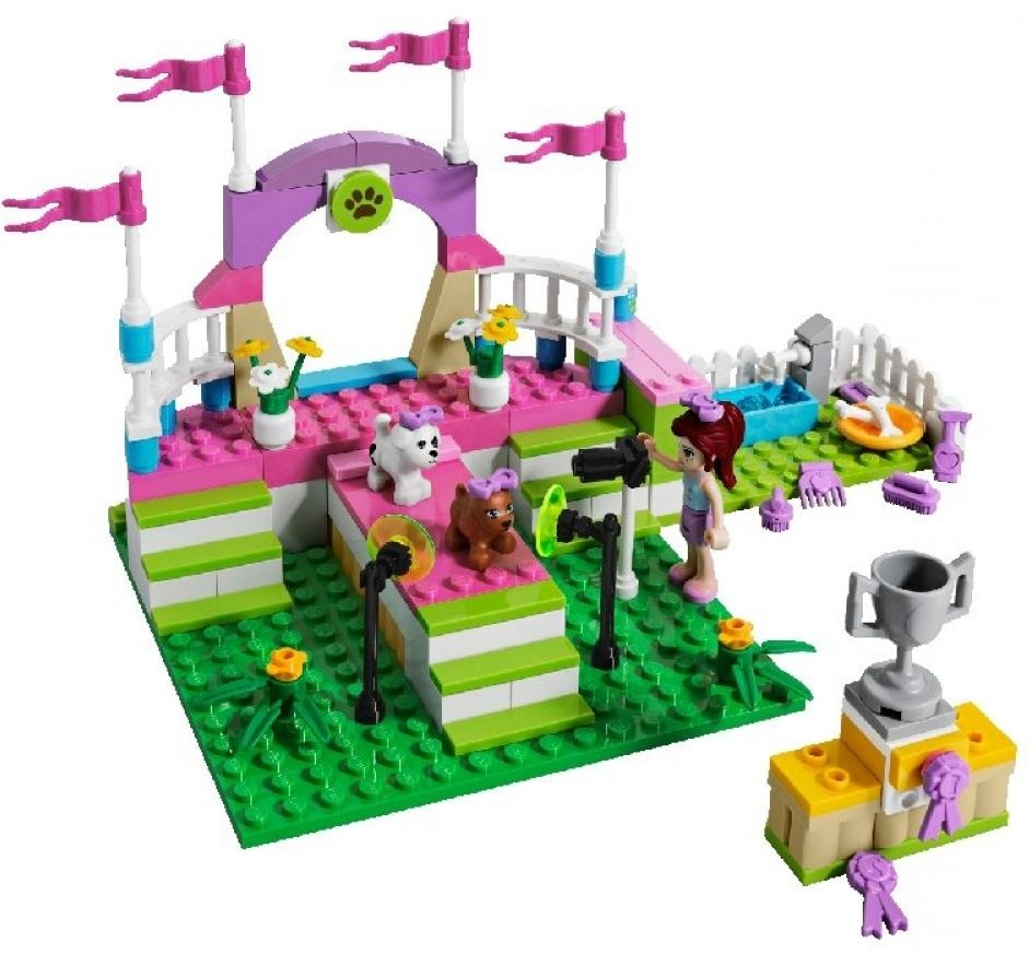 Lego friends dog house house plan 2017 for Olivia s garden pool instructions