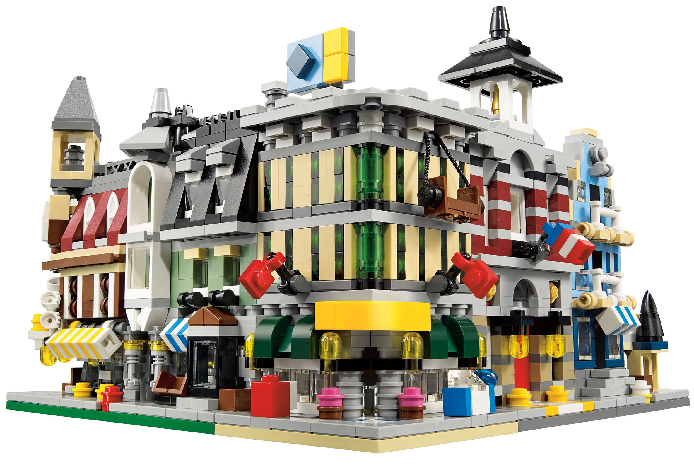 Lego 10230 mini modulars i brick city for Case lego city