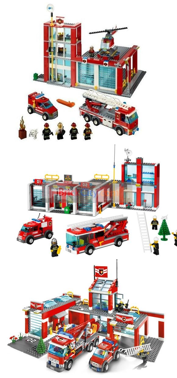 Lego 60004 City – Fire Headquarters | i Brick City