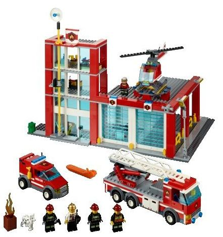 Lego 60004 City Fire Headquarters ibrickcity 11 Lego 60004 City – Fire Headquarters