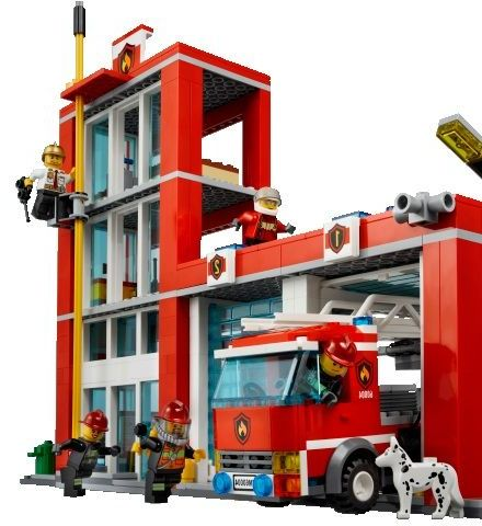 Lego 60004 City Fire Headquarters ibrickcity 7 Lego 60004 City – Fire Headquarters