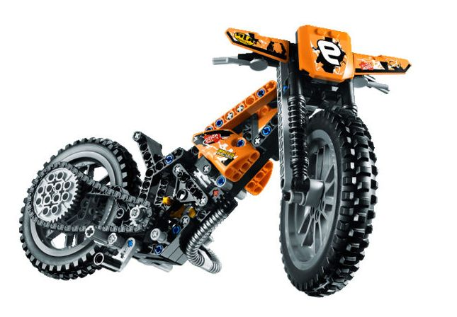 videos of lego technic 42007 moto cross bike a b models. Black Bedroom Furniture Sets. Home Design Ideas