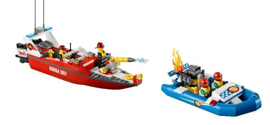 lego 60005 city fire boat ibrickcity 6 Lego 60005 City – Fire Boat