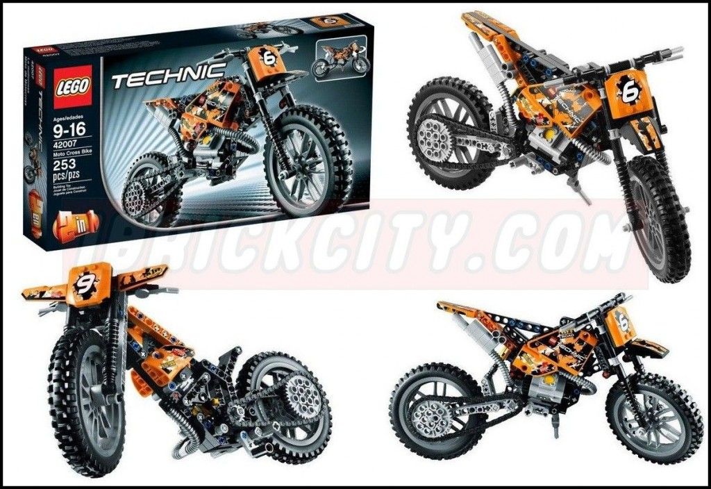 lego 42007 moto cross bike i brick city. Black Bedroom Furniture Sets. Home Design Ideas