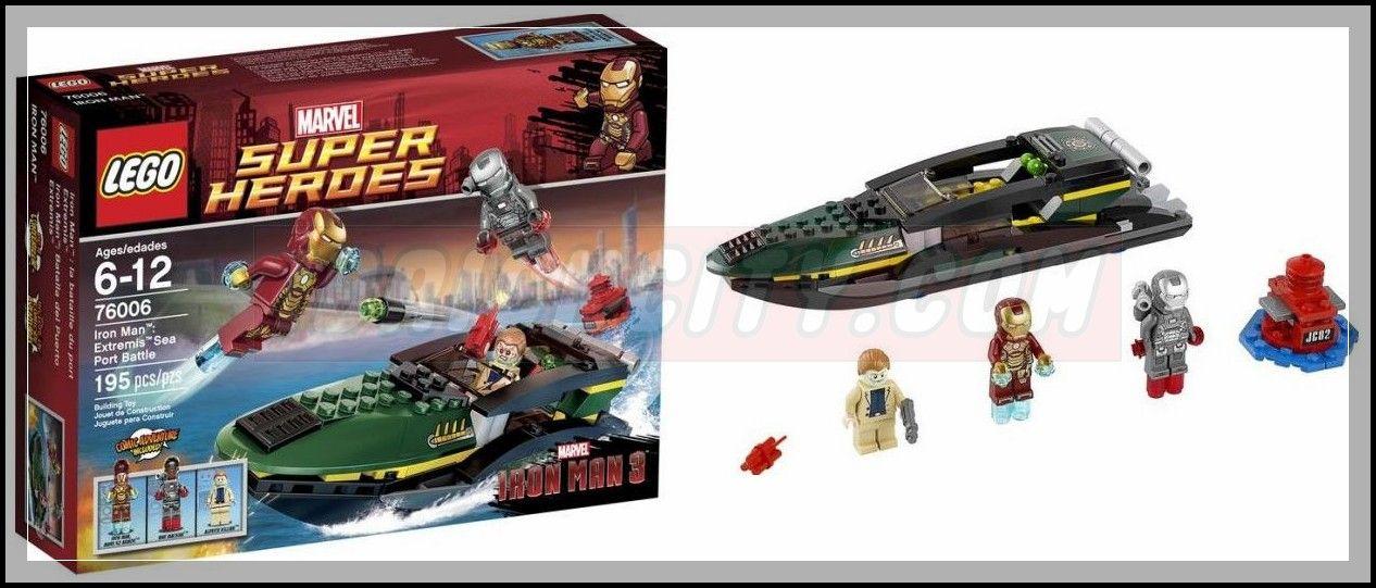 Lego 76006 – Iron Man Extremis Sea Port Battle | i Brick City