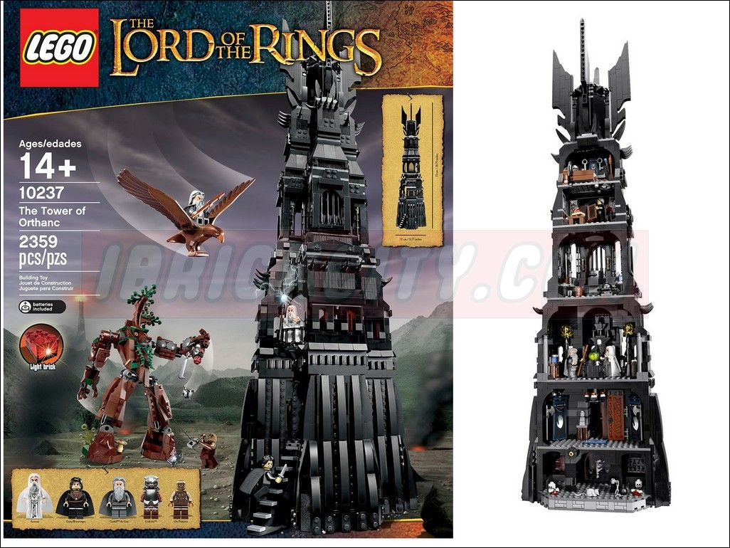 Lego 10237 Tower Of Orthanc I Brick City The Lord Rings Battle At Black Gate 79007 It