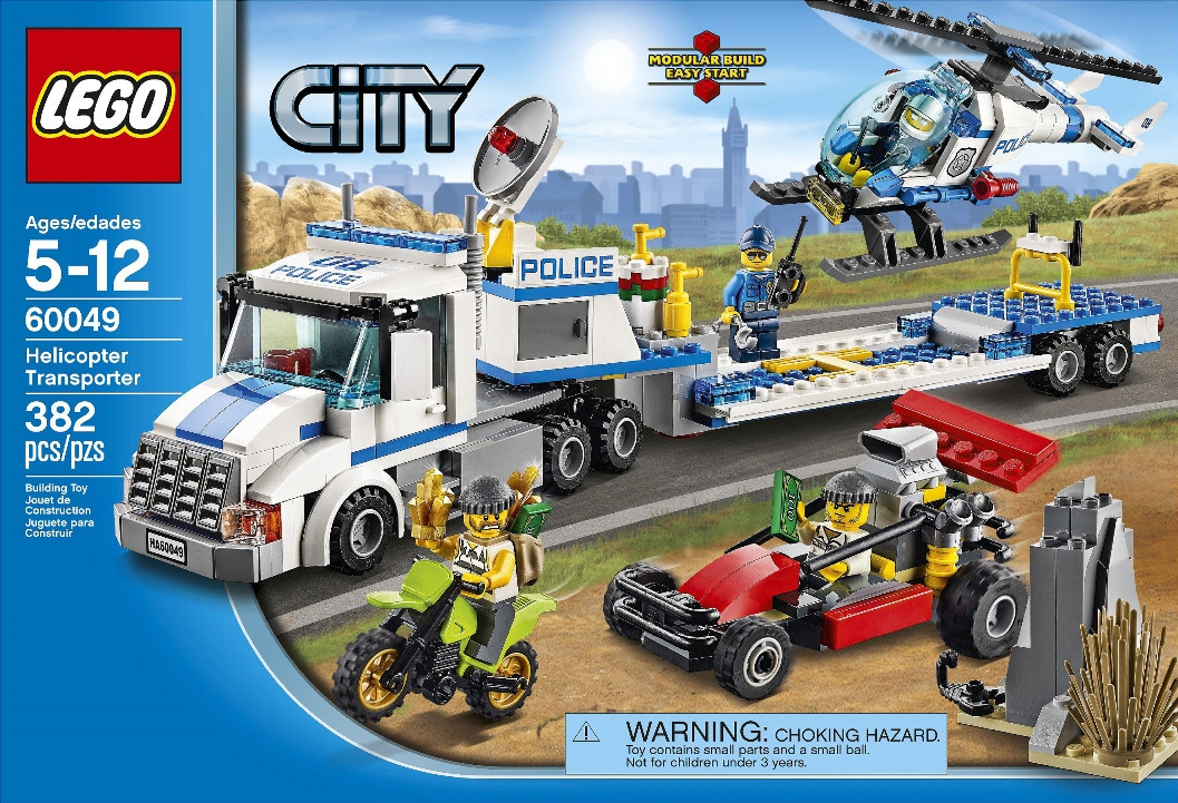 lego 60049 helicopter transporter i brick city. Black Bedroom Furniture Sets. Home Design Ideas