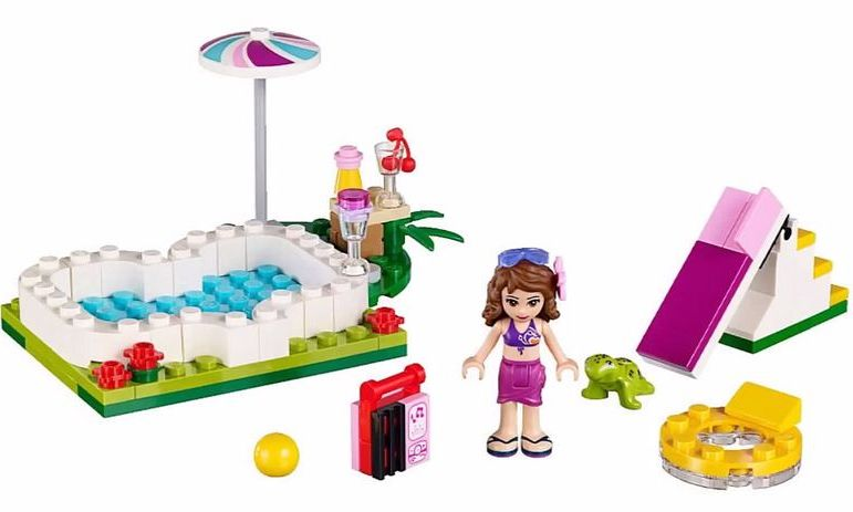 lego 41090 olivia 39 s garden pool i brick city