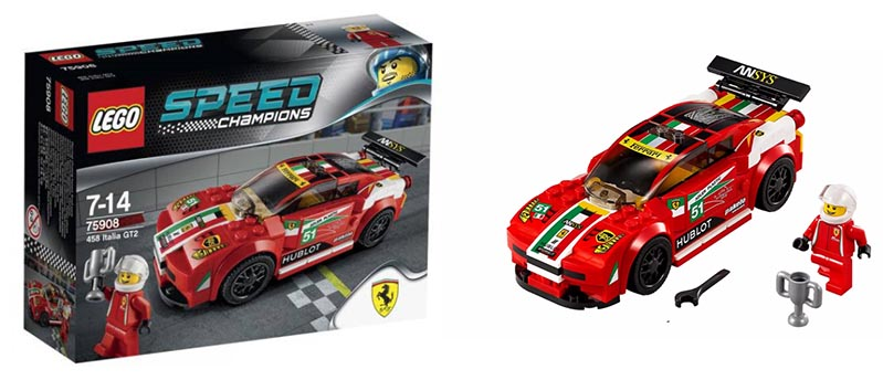 lego 75908 ferrari 458 italia gt2 i brick city. Black Bedroom Furniture Sets. Home Design Ideas