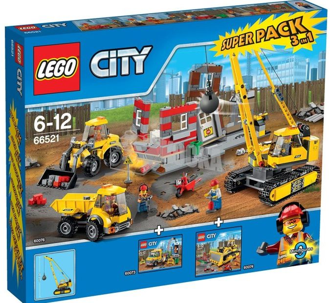 Lego 66521 A New City Construction Super Pack I Brick City