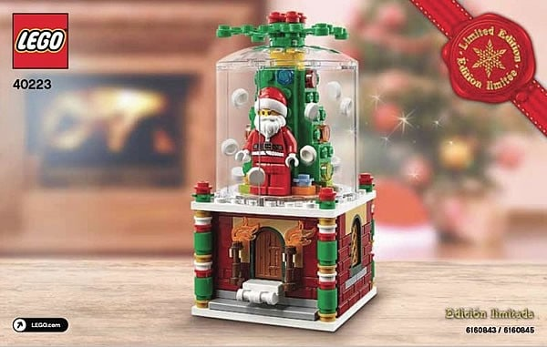 lego seasonal snow globe 40223 i brick city. Black Bedroom Furniture Sets. Home Design Ideas