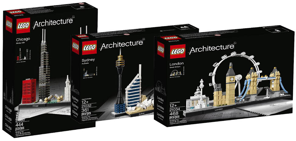 Lego 2017 Architecture 21032 21033 21034