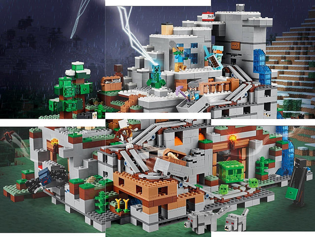 Lego-Minecraft-Mountain-Cave-21137