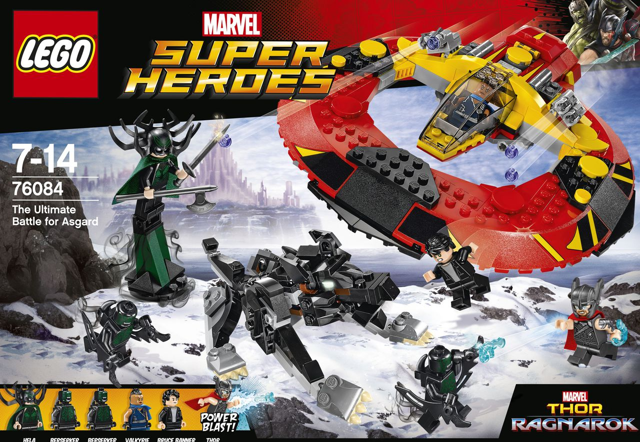 LEGO Marvel Super Heroes Thor Ragnarok The Ultimate Battle for Asgard 76084