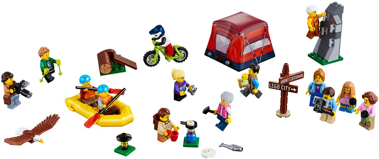 LEGO CITY OUTDOOR ADVENTURES SET 60202 HIKER DUDE MINIFIGURE