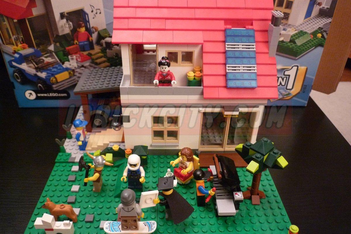 Lego creator 5771 hillside house i brick city for Lego house original