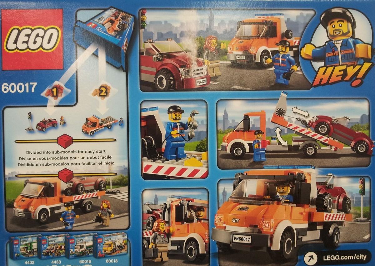 Flatbed Tow Truck >> Lego 60017 City – Flatbed Truck | i Brick City
