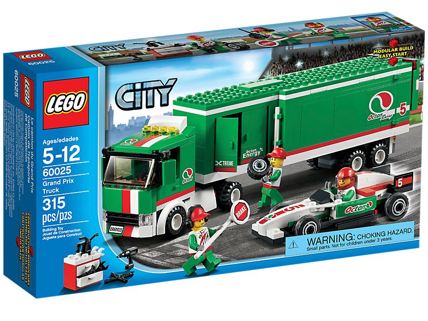 lego 60025 grand prix truck i brick city. Black Bedroom Furniture Sets. Home Design Ideas