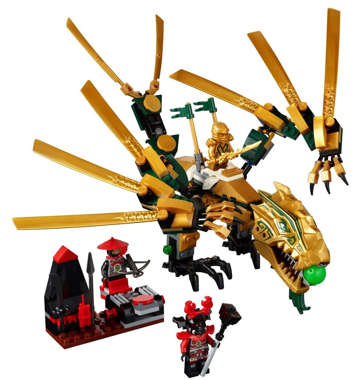 Lego 70503 the golden dragon i brick city - Lego ninjago dragon a 4 tetes ...