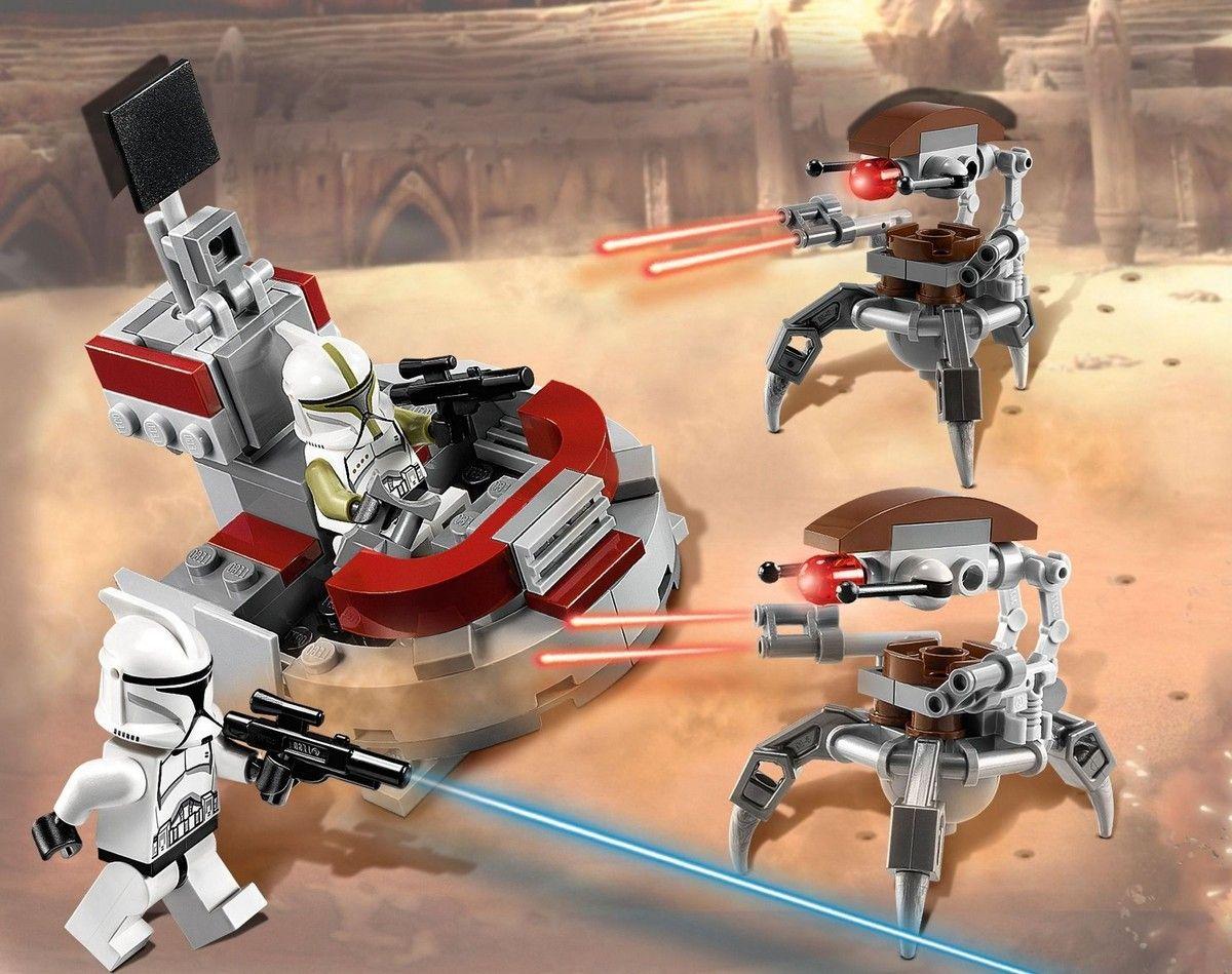 Lego 75000 clone troopers vs droidekas i brick city - Lego star wars vaisseau droide ...