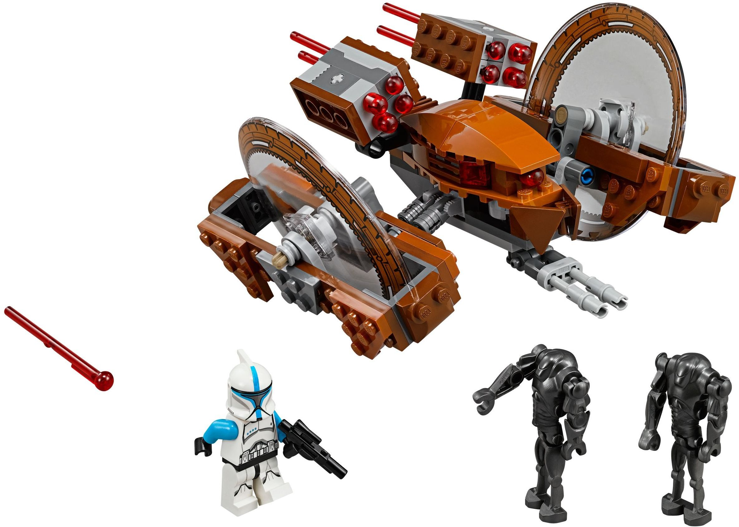 Lego 75085 hailfire droid i brick city - Lego star wars vaisseau droide ...
