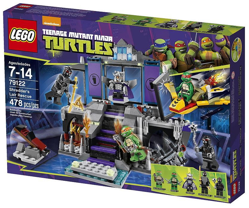 Lego Teenage Ninja Turtles Toys : Lego shredders lair rescue i brick city