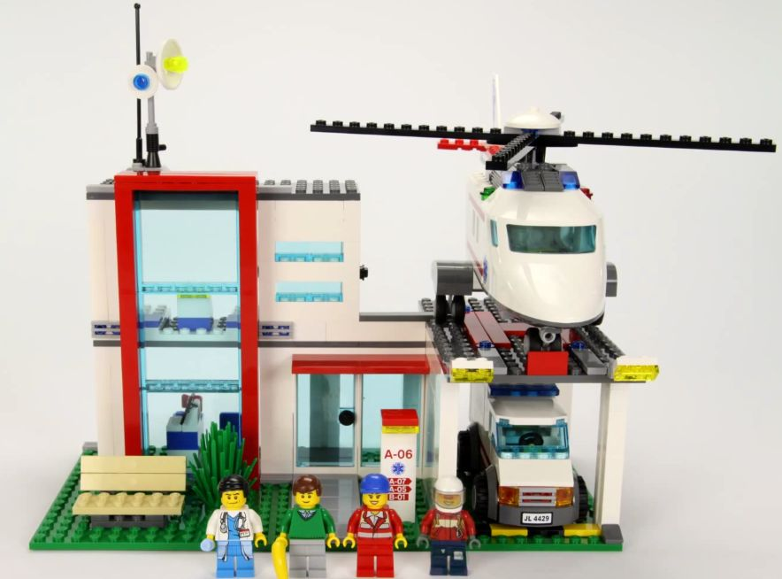 Lego City Hospital Helicopter Rescue Brick