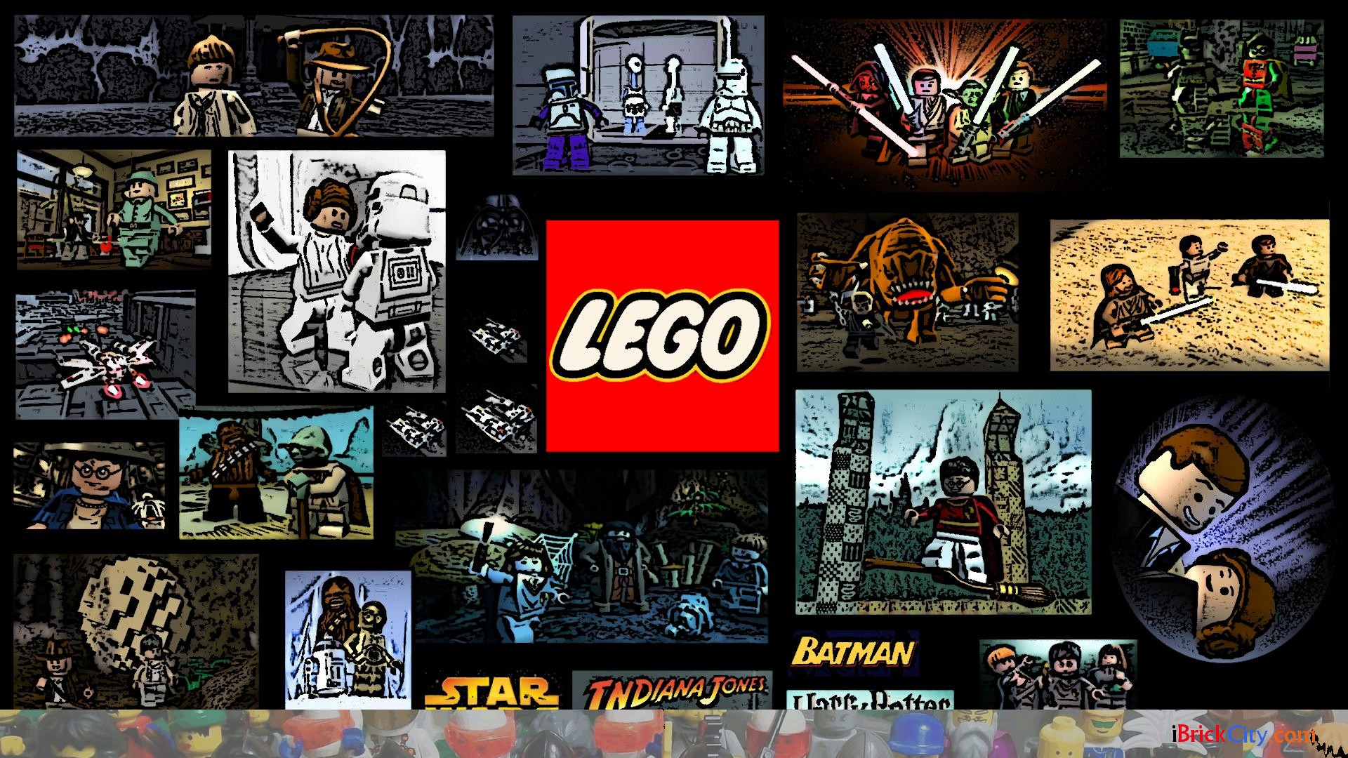 lego wallpapers pack 1 i brick city. Black Bedroom Furniture Sets. Home Design Ideas